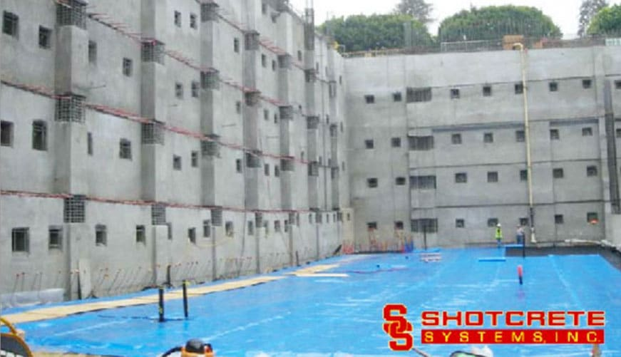 Basement walls shotcrete structures inc Basement swimming pool construction